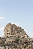 Uchisar slott i Cappadocia, Nevsehir Royaltyfria Bilder