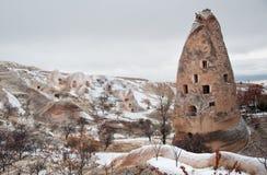 Uchisar torn Fotografering för Bildbyråer