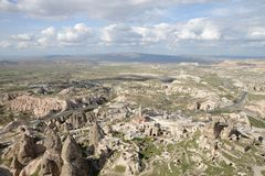 Uchisar Village, Cappadocia Royalty Free Stock Image