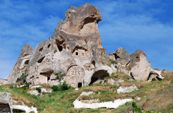 Uchisar village in Turkey Royalty Free Stock Photography