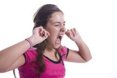 ucho dziewczyna jej ból Zdjęcie Royalty Free