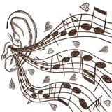 Ucho ilustracyjny i notatki Obraz Royalty Free
