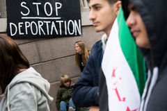 Uchodźców dóbr wiec Fotografia Stock