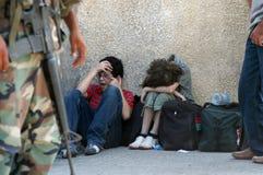 Uchodźcy w Liban Fotografia Stock