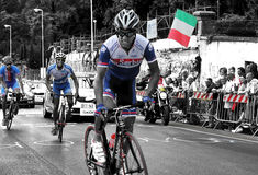 UCI Road World Bycicle Championships. Serbian rider Stock Photography