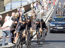 UCI road world championship,Florence 2013.Team Velociosports, the winner of the race Royalty Free Stock Image