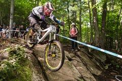 UCI-världscup sluttande 2013, Mont Ste-Anne, Beaupr fotografering för bildbyråer
