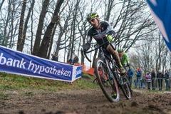 UCI-Weltcup Cyclocross - Hoogerheide, die Niederlande Stockfotografie