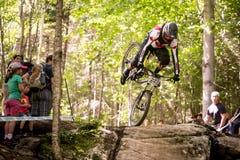 UCI-Wereldbeker bergaf 2013, Mont Ste-Anne, Beaupr Royalty-vrije Stock Afbeelding