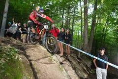UCI-Wereldbeker bergaf 2013, Mont Ste-Anne, Beaupr Royalty-vrije Stock Afbeeldingen