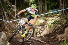 UCI-Wereldbeker Dwarsland 2013, Mont Ste-Anne, B Royalty-vrije Stock Foto
