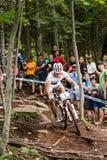 UCI-Wereldbeker Dwarsland 2013, Mont Ste-Anne, B Royalty-vrije Stock Foto's