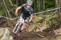 UCI-Wereldbeker Dwarsland 2013, Mont Ste-Anne, B Stock Afbeelding