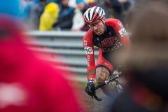 UCI World Championship Cyclocross - Heusden-Zolder, Belgium. Jeremy Powers (USA) races the UCI World Championship Cyclo-cross race In Heusden-Zolder, Belgium stock photos