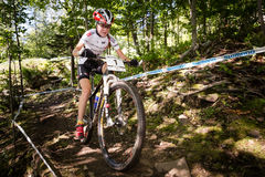 UCI World Cup Cross Country 2013, Mont Ste-Anne, B. MONT STE-ANNE, QUEBEC, CANADA - AUGUST 10: Cross Country Women Elite, 2nd place, POL - WLOSZCZOWSKA Maja, UCI Royalty Free Stock Images