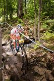UCI World Cup Cross Country 2013, Mont Ste-Anne, B. MONT STE-ANNE, QUEBEC, CANADA - AUGUST 10: Cross Country Women Elite, 2nd place, POL - WLOSZCZOWSKA Maja, UCI Royalty Free Stock Photography