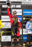 UCI World Cup Downhill 2013, Mont Ste-Anne, Beaupr Royalty Free Stock Images