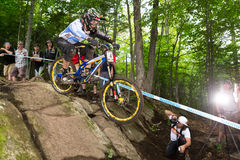 UCI World Cup Downhill 2013, Mont Ste-Anne, Beaupr Royalty Free Stock Photos