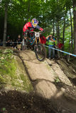 UCI World Cup Downhill 2013, Mont Ste-Anne, Beaupr royalty free stock photo