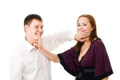 ucichnięcia utrzymania sekrety twój Fotografia Stock