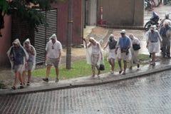 Uciekać od deszczu Fotografia Royalty Free