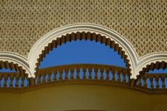 Ucieka się architekturę w Egipt, orientalny stylowy hotel Obrazy Stock