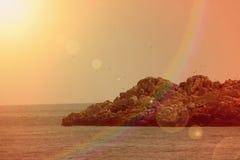 Ucieka się plażę na Adriatyckim morzu, Montenegro Fotografia Royalty Free