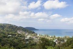 ucieka się w lasowej pobliskiej plaży, dennego widoku andaman tropikalny morze Obraz Stock