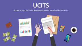 Ucit集体投资担保在可转换保证金概念的 免版税库存图片