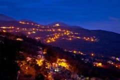 Ucka mountain village evening view Royalty Free Stock Photo