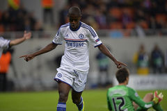 UCL: Ramires of Chelsea celebrating Royalty Free Stock Photo