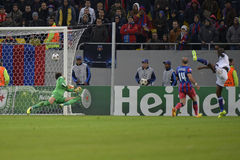 UCL: Ramires of Chelsea scoring a goal Stock Images