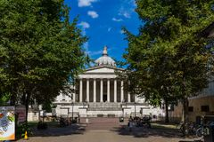 UCL University College Cruciform building in London, England, UK.  royalty free stock images