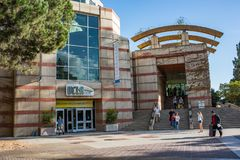 UCLA Bookstore. Los Angeles, CA: October 20, 2017: UCLA bookstore on the UCLA campus. UCLA is a public university in the Los Angeles area with 30,873 Stock Photography