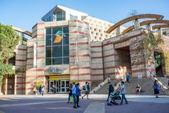 UCLA campus bookstore. Los Angeles, CA: October 20, 2017: UCLA bookstore on the UCLA campus. UCLA is a public university in the Los Angeles area with 30,873 Royalty Free Stock Photos