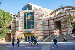 UCLA campus bookstore. Los Angeles, CA: October 20, 2017: UCLA bookstore on the UCLA campus. UCLA is a public university in the Los Angeles area with 30,873 Stock Photography