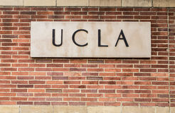 UCLA Campus Entrance Sign Stock Photo