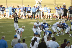 UCLA Football Scrimmage Royalty Free Stock Photos