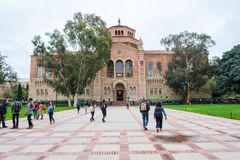 UCLA. Los Angeles, CA: February 21, 2017: UCLA Powell Library on the UCLA campus.  UCLA is a public university in the Los Angeles area Royalty Free Stock Photography