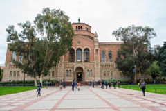 UCLA. Los Angeles, CA: February 21, 2017: UCLA Powell Library on the UCLA campus.  UCLA is a public university in the Los Angeles area Royalty Free Stock Image