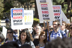 UCLA Occupy Protest Royalty Free Stock Photo