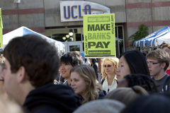 UCLA Occupy Protest Stock Images