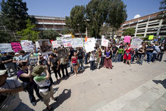 Ucla-Protest Stockfoto