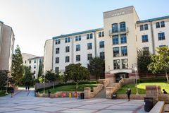 UCLA Residence Halls. Los Angeles, CA: October 20, 2017: Exterior of the UCLA resident halls. For 2017-2018, the cost of room and board in the UCLA resident Stock Photo
