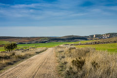 Ucles Cuenca landskap, Castilla La Mancha, Spanien Arkivfoto