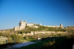 Ucles monastery and castle Stock Photo