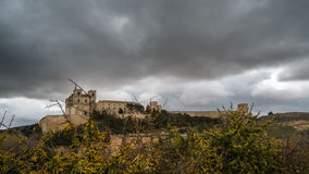 Ucles monastery time lapse in Cuenca, Spain stock video