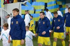 Ucrânia e Eslovênia Desempate 2016 do EURO do UEFA Imagens de Stock Royalty Free