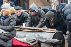 Ucrânia euromaidan em Kiev Fotografia de Stock Royalty Free