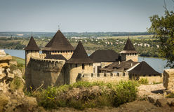 Ucrânia, Khotyn, castelo Fotografia de Stock Royalty Free